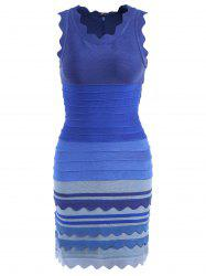 Ombre Color Night Out Bandage Dress - BLUE M