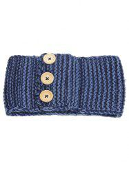 Crochet Warm Button Elastic Hair Band -