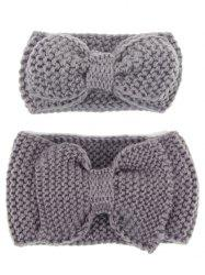 Crochet Bows Elastic Mom and Kid Hair Band Set -