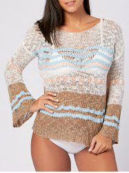 Crochet Cover Up Top with Flare Sleeve -