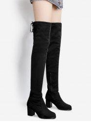 Pointed Toe Tie Up Over The Knee Boots -