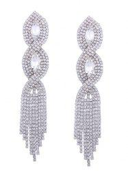 Faux Crystal Rhinestone Chandelier Earrings -