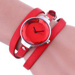 Layered Analog Wrap Bracelet Watch -