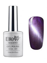 Elite99 3D Soak Off UV LED Purple Series Magnetic Cat Eye Gel Nail Polish -