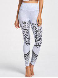 Tree Pattern High Waist Leggings -
