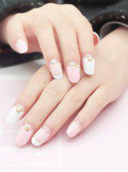 20Pcs Sweet Faux Pearls Décoré Nail Art Fake Nails -
