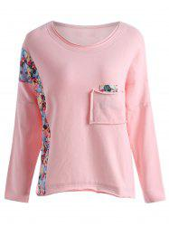 Sweat en molleton aux dimensions florales -