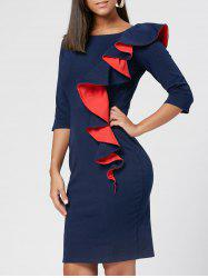 Robe Bodycon Robe Ruffée -