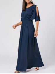 High Waist Slit Sleeve Maxi Party Dress -