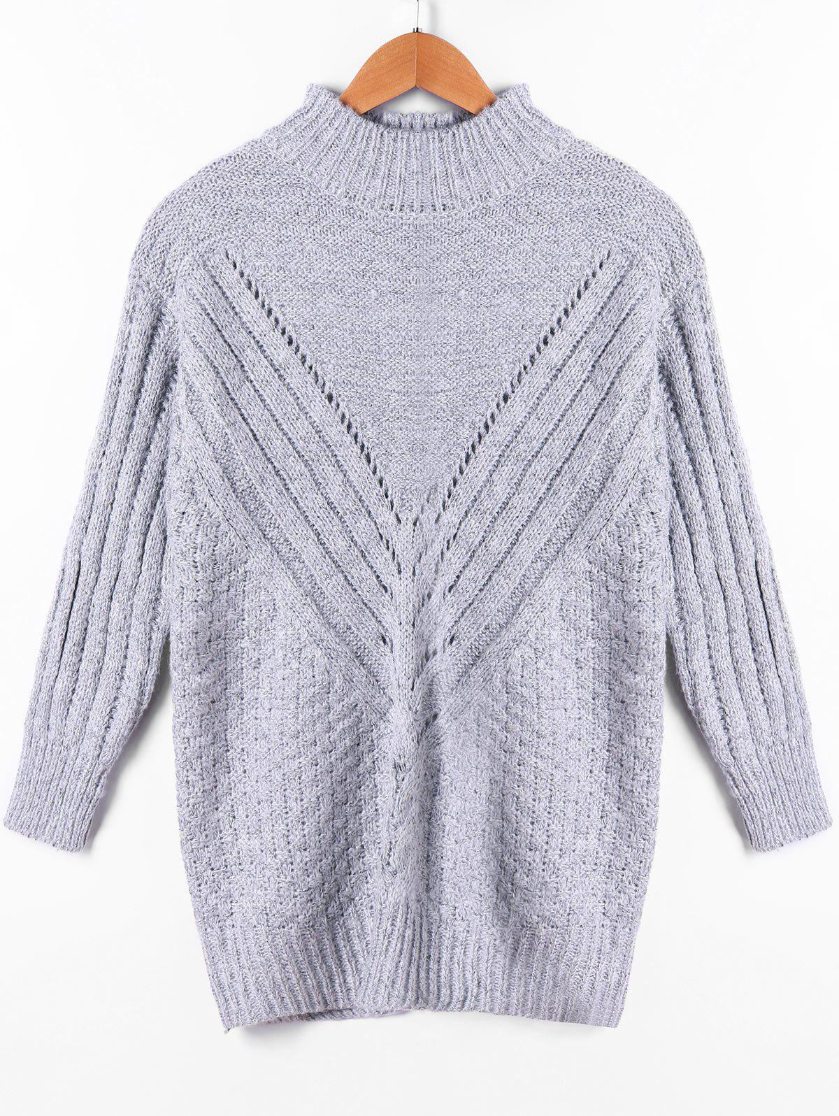 New Ribbed High Neck Sweater
