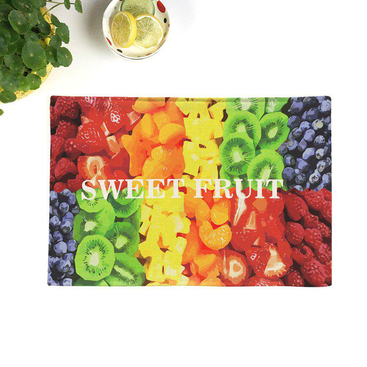 Fruit Print Table Linen Placemat décoratif coloré 28*44CM
