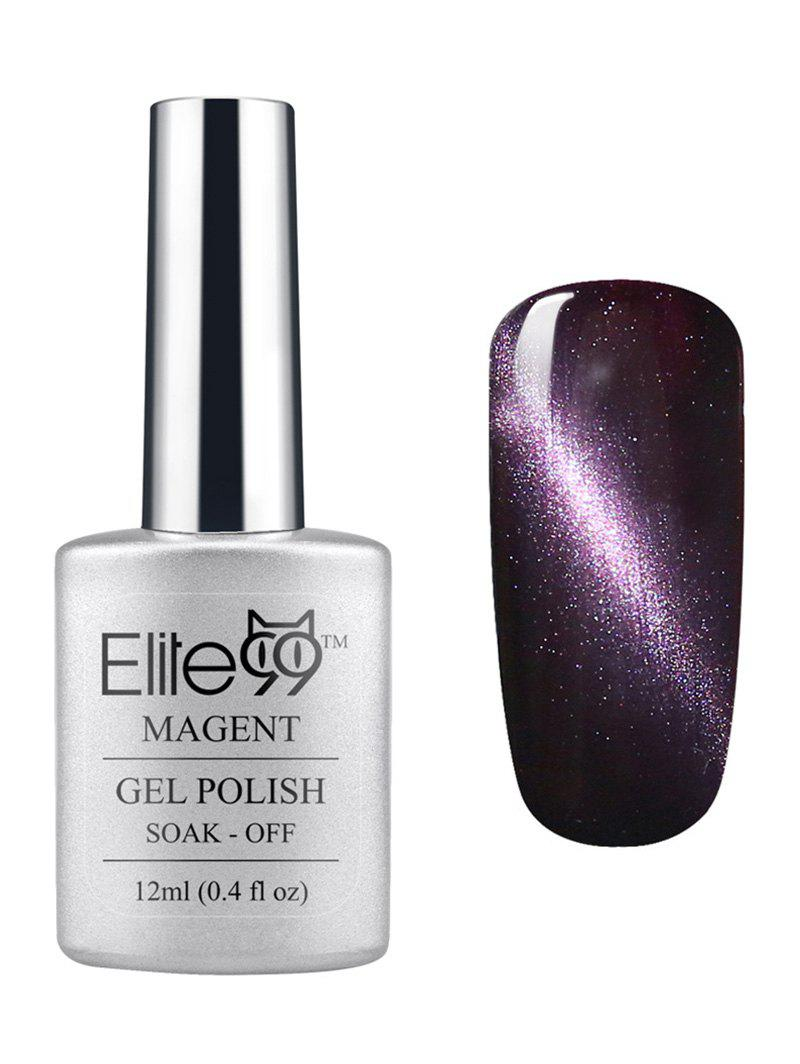New Elite99 3D Soak Off UV LED Purple Series Magnetic Cat Eye Gel Nail Polish