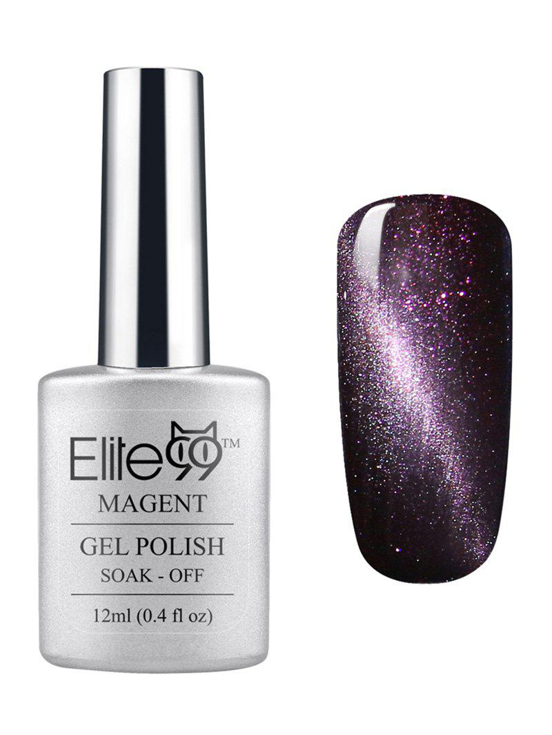 Unique Elite99 3D Soak Off UV LED Purple Series Magnetic Cat Eye Gel Nail Polish