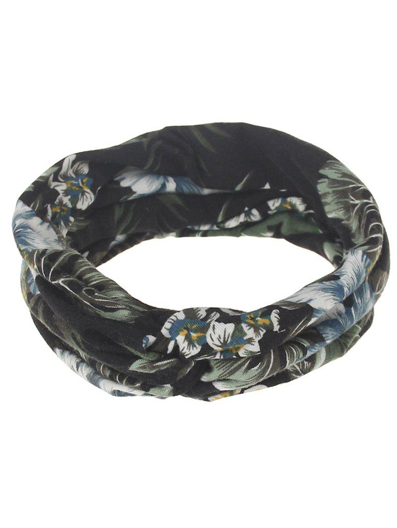 Leaf Print Multiuse Elastic Hair BandACCESSORIES<br><br>Color: #04; Headwear Type: Elastic Hair Band; Group: Adult; Gender: For Women; Style: Vintage; Pattern Type: Plant; Weight: 0.0500kg; Package Contents: 1 x Elastic Hair Band;