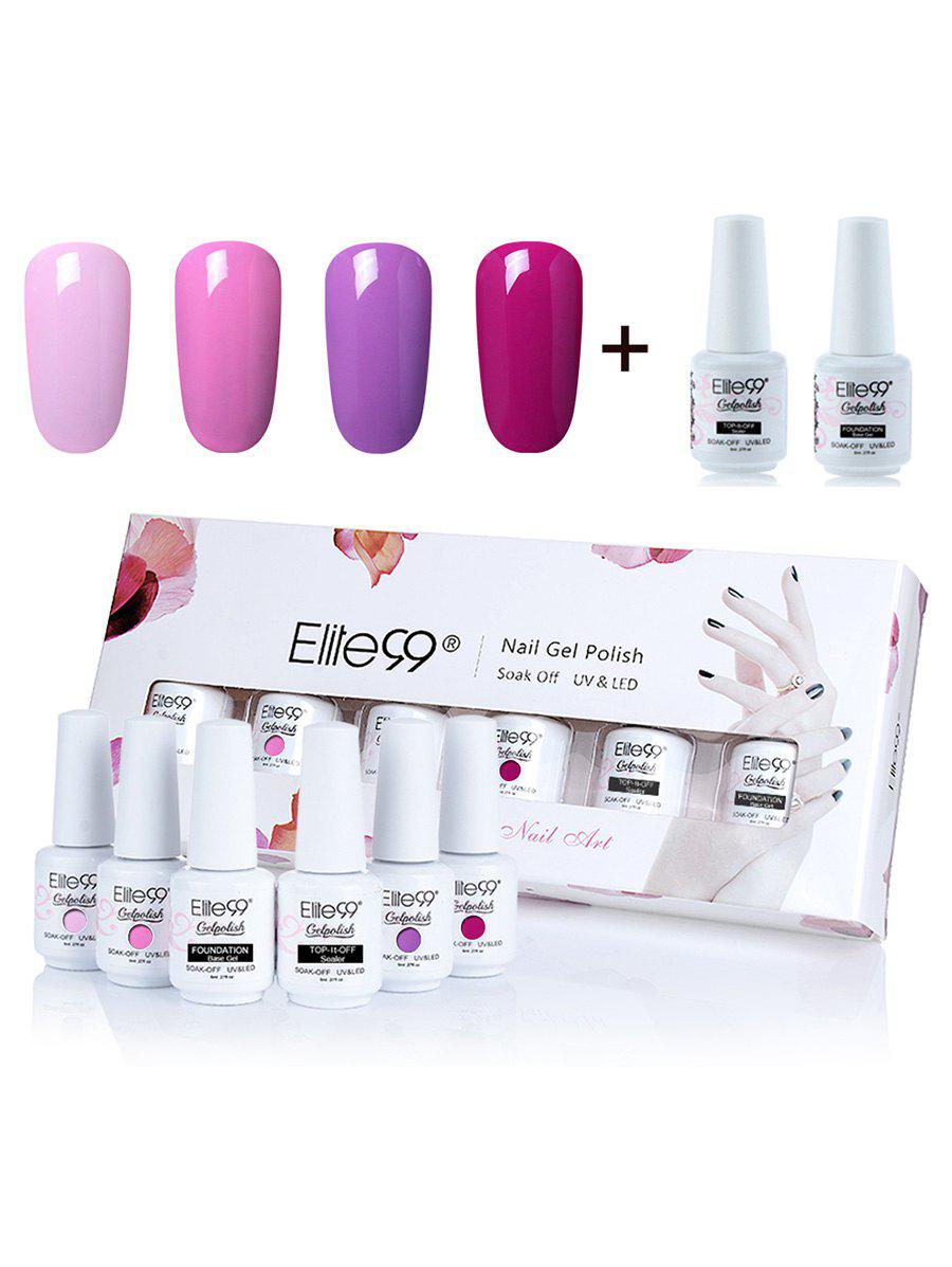 8ml Elite99 Soak-off UV LED Gel Polish Nail Art Box SetBEAUTY<br><br>Color: #01; Net Weight: 8ml*6; Type: Gel Polish; Product weight: 0.2160 kg; Package weight: 0.2360 kg; Product Size  ( L x W x H ): 1.00 x 1.00 x 1.00 cm / 0.39 x 0.39 x 0.39 inches; Package Size ( L x W x H ): 1.00 x 1.00 x 1.00 cm / 0.39 x 0.39 x 0.39 inches; Package Content: 4 x Colour Gel(Pieces) 2 x Top/Base Coat(Pieces);