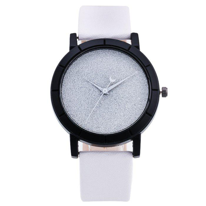Sale Minimalist Glitter Powder Face Faux Leather Watch