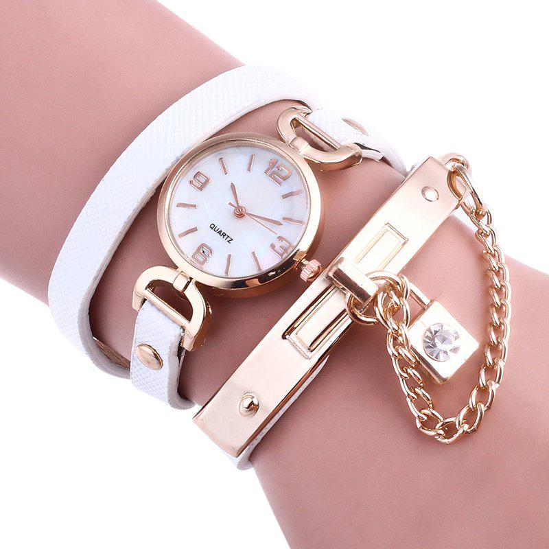 Outfits Lock Number Wrap Bracelet Watch