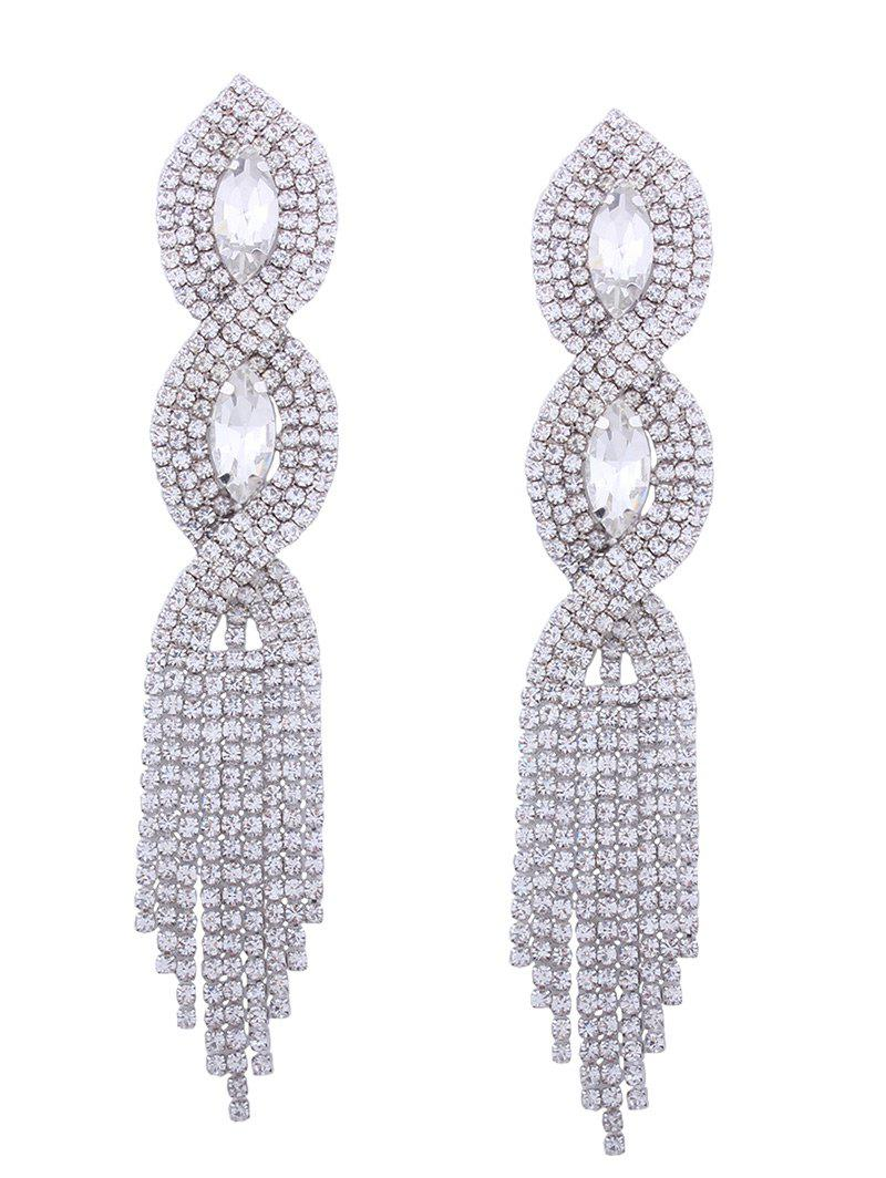 Affordable Faux Crystal Rhinestone Chandelier Earrings