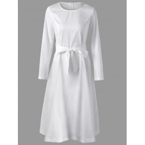 Robe à manches longues Midi A Line Dress -