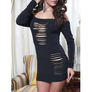 Épaule Off Échelle Cut Out Tight Dress -