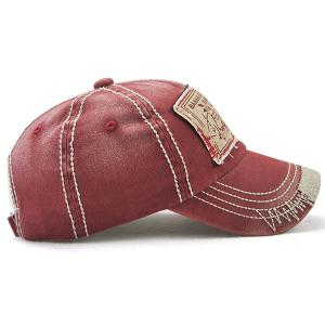 Bahamas Handwritten Letters Applique Baseball Hat - Rouge vineux