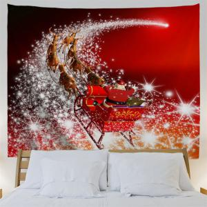 Wall Hanging Christmas Sled Tapestry - RED W59 INCH * L51 INCH