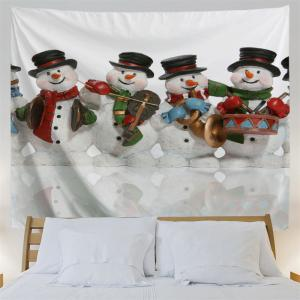 Christmas Snowman Band Wall Art Tapestry - WHITE W59 INCH * L59 INCH