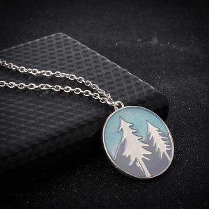 Arbre Glow in the Dark Round Necklace -