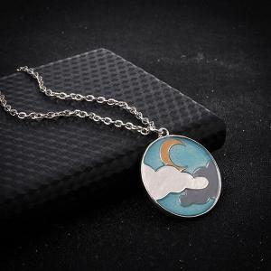 Cloud Moon Glow in the Dark Necklace - SILVER