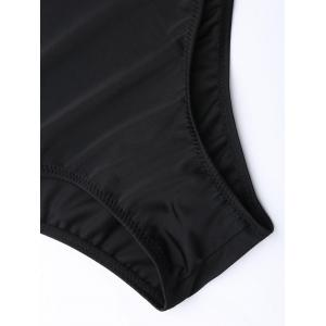 Cross Back One Piece Swimsuit - Noir S