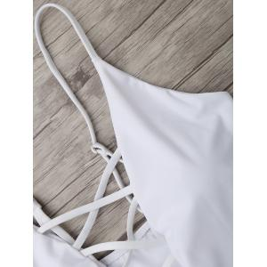 Cross Back One Piece Swimsuit - WHITE XL