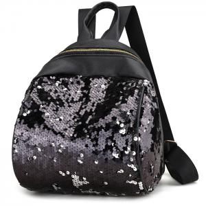Faux Leather Sequins Backpack -