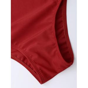 Cross Back One Piece Swimsuit - RED 2XL