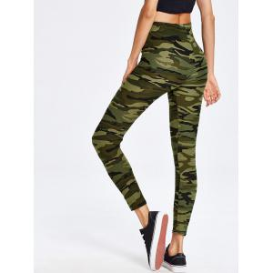 Haute taille Camo Print Sport Leggings - Camouflage TAILLE MOYENNE