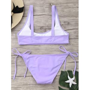 U Neck Tie Side Bikini Swimwear -