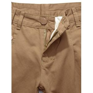 Straight Leg Zip Fly Casual Chino Pants -