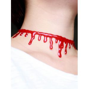 Halloween Plastic Blood Choker Necklace - RED