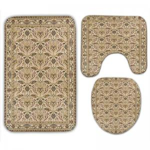 Organic Graphic Flannel 3Pcs Ensemble de tapis de toilette - Jaune