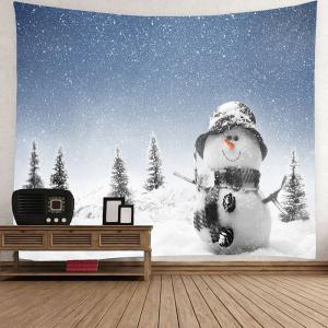 Christmas Snowman Printed Waterproof Wall Art Tapestry -