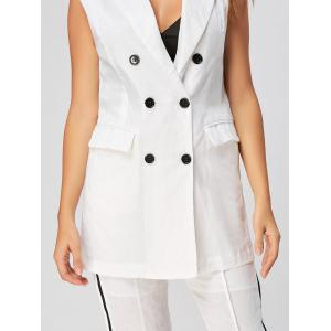 Double Breasted Waistcoat with  Capri Pants - WHITE M