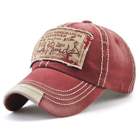 Bahamas Handwritten Letters Applique Baseball Hat Rouge vineux