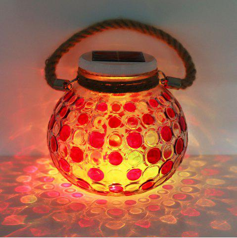 Latest Solar Glass Jar Color Changing Hanging Light RED