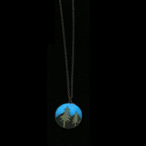 Arbre Glow in the Dark Round Necklace