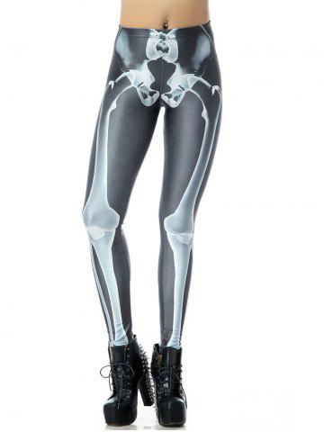 3D Bone Print Halloween Leggings