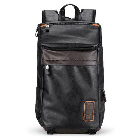 Online Side Pocket Faux Leather Laptop Backpack