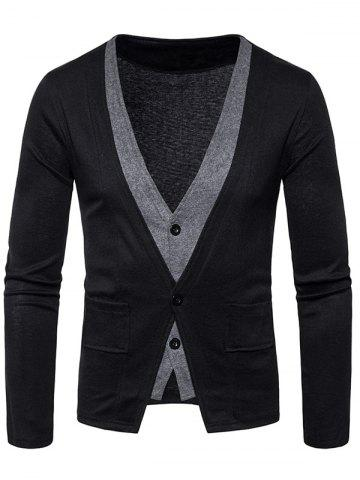 Manteau Faux Twinset Button Up Cardigan Noir S