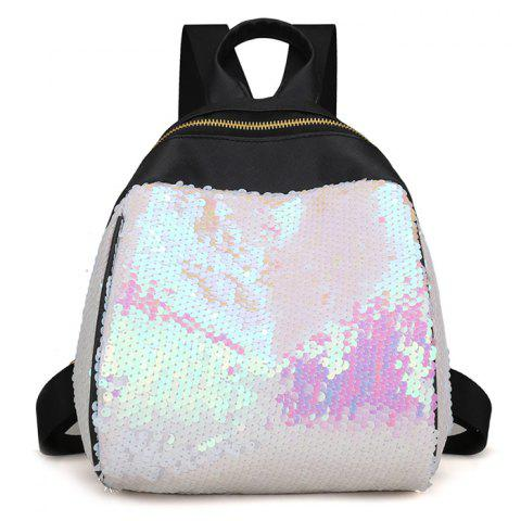 Discount Faux Leather Sequins Backpack