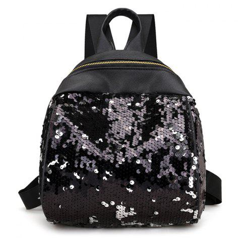Store Faux Leather Sequins Backpack