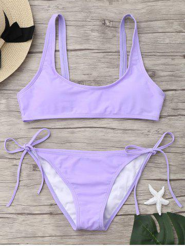 Outfit U Neck Tie Side Bikini Swimwear