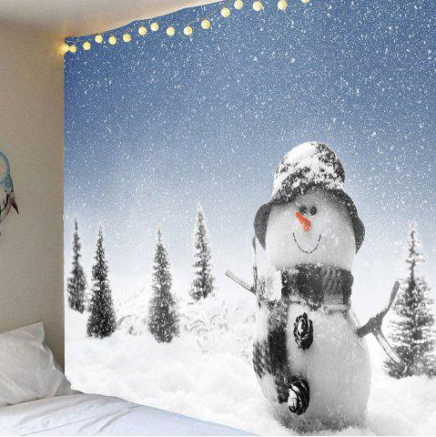 Buy Christmas Snowman Printed Waterproof Wall Art Tapestry